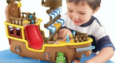 Fisher Price Disney's Jake and The Never Land Pirates Musical Pirate SHIP New | eBay #kidstoys #christmas_gifts #pirateship #fisherpricetoys #Disneys_Jake_and_the_Never_Land_Pirates #musical_ship #depotdeals #ebaystore #toys