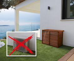 realisation un cache pour moteur ext de clim terrasse pinterest cacher ext rieur. Black Bedroom Furniture Sets. Home Design Ideas