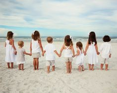 A beach wedding, a family reunion, and white dresses.... #orientexpressed. Cool photo idea for your stay at Moontide! Http://TheMoontide.blogspot.com ... Right ON New Smyrna Beach, Moontide is the perfect destination for beach weddings, family reunions and get-aways!