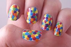 These remind me of gumballs - fun & colorful!