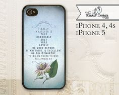 Christian cell phone case, bible verse, iPhone 4, 4S, iPhone 5 & Galaxy S3 by LilStinkerDesign, $16.99