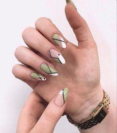 Almond Acrylic Nails, Best Acrylic Nails, Stylish Nails, Trendy Nails, Nagellack Design, Acylic Nails, Oval Nails, Fire Nails, Minimalist Nails