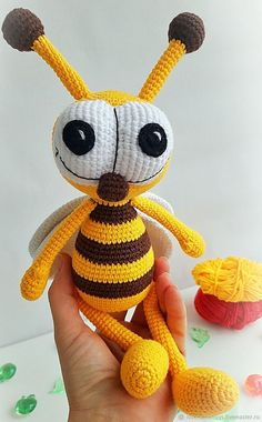 Newest Photographs toys by age children Ideas , Amigurumi animals insects crochet toys Grasshopper Honey Bee Crochet Animal Patterns, Crochet Patterns Amigurumi, Amigurumi Doll, Bee Toys, Crochet Bee, Crochet Mandala, Crochet Afghans, Crochet Blankets, Double Crochet