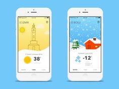 Zebra Weather App  by Devran Bostancioglu