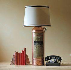 Modish Vintage: DIY: vintage fire extinguisher lamp