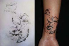 Tattoo Idea! Like the subtle pencil like quality.