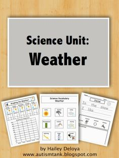 Autism Tank: Science Unit Preview-Weather! Also, covers vocabulary! Pinned by SOS Inc. Resources @SOS Inc. Resources.
