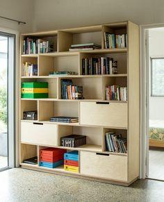 Plywood bookshelf and office storage | Plywood Furniture | Make Furniture