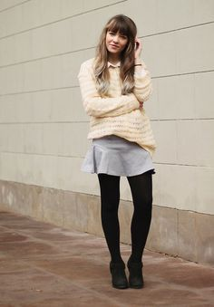 Monki Sweater, Gina Tricot Skirt, Urban Outfitters Boots