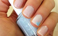 Something Blue Heart Art // Before The I Dos // http://blog.theknot.com/2013/07/23/the-engaged-girls-guide-to-nail-art/