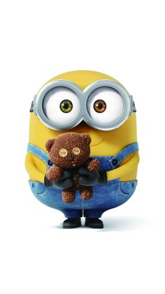 Bob the minion is the cutest and his teddy bear! Minion Rock, Minions Bob, Minions Despicable Me, Minions 2014, Minions Minions, Evil Minions, Minion Movie, Heros Comics, Funny Minion Pictures