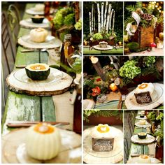 Delighted by this whimsical Fall woodland tablescape?  Infarrantly Creative shares 5 tutorials to help you DIY a similar table.