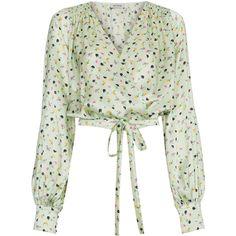 8e61f23cb1d10a Attico Floral Print Wrap Silk Blouse ( 1
