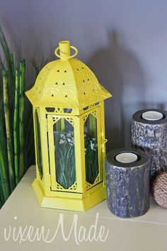 painted recycled-lantern