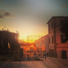 Sunset by the old gaslight factory of Technopolis. Walking Athens app, Route 15 - Gazi (Download for FREE) #travel #guide #iPhone #sky #sun Free Travel, Athens, Night Life, Travel Guide, Old Things, Walking, Sky, Sunset, Iphone