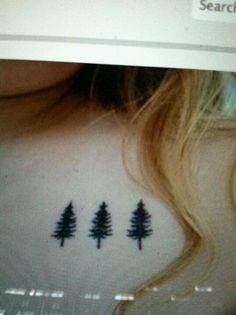 Evergreen tattoo inspiration.....but I just want one tree.