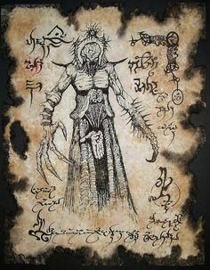 NIGHTMARE DEMON larp Necronomicon Fragment occult horror by zarono, $10.00