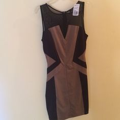 Dress Classy & sexy Bodycon dress! Brand new from clean & smoke free home. Color is more of a brownish tan & black. Forever 21 Dresses