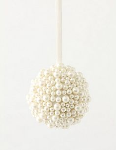 Pearl ornament {now I know what to do with all my pearl necklaces I don't wear}