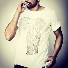 【Yarra-Myer.】Elephant Organic cotton T-Shirts $40.00 ¥3800- #動物Tシャツ #象 #動物