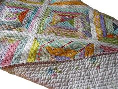 straight line quilting on string quilt