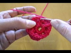 How to crochet a flower, part 2