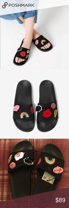 best service ab7af f4c50 Zara patches Sandals Brand new with tags, sold out everywhere! Price is  firm Zara Shoes Sandals. Skor SandalerDesignerväskor