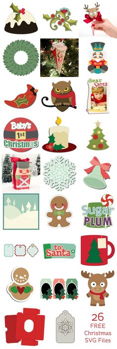 alice brans posted 26 free christmas svg files to their crochet ideas and tips postboard via the juxtapost bookmarklet
