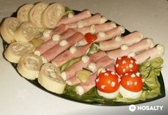 Meat Recipes, Recipies, Cold Dishes, Egg Decorating, Sushi, Sausage, Bacon, Ethnic Recipes, Food