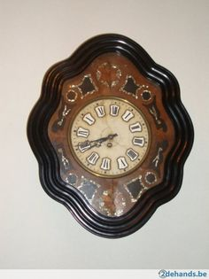 Other Antique Furniture Furniture Lovely Antique French Oeil De Boeuf Napolean Iii Wall Clock 1900s Inlayed Picture Frame