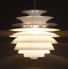 Design hanglamp 'APOLLO' uit wit geverfd aluminium