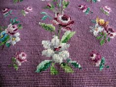 Antique Needlework Chair Back & Seat Cover c.1890 by chalcroft, $40.00