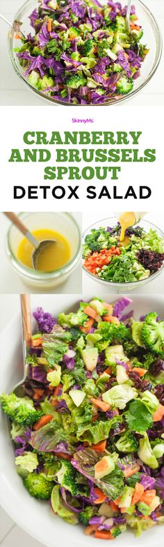 This Cranberry and Brussels Sprout Detox Salad will help you keep your weight loss on track! #healthy #cleaneats #detox