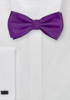 Herrenschleife Poly-Faser lila