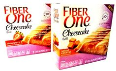 Fiber One NEW CHEESECAKE BARS VARIETY PACK  FREE 19 oz Beverage Bottle 3 BOXES of SALTED CARAMEL CHEESECAKE  3 BOXES of STRAWBERRY CHEESECAKE 5 Bars Per Box 6 Pack ** Check this awesome product by going to the link at the image.