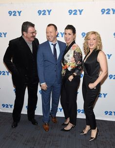 Donnie Wahlberg and Bridget Moynahan Photos Photos - Tom Selleck,Donnie Wahlberg,Bridget Moynahan and Amy Carlson attend the Blue Bloods Episode Celebration at Street Y on March 2017 in New York City. Blue Templar, Tom Selleck Blue Bloods, Donnie And Jenny, Amy Carlson, Blue Bloods Tv Show, Bridget Moynahan, Donnie Wahlberg, Popular Shows, Favorite Tv Shows