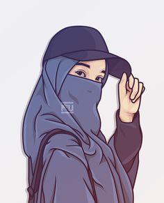Ahmad Fuad on Kreavi Cartoon Girl Images, Cute Cartoon Girl, Cartoon Art, Islamic Girl Pic, Islamic Girl Images, Vector Character, Portrait Vector, Hijab Drawing, Islamic Cartoon