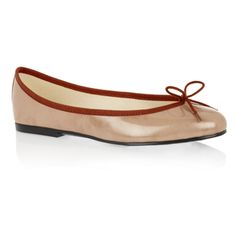 Patent Leather ballet pumps, India Taupe Shimmer
