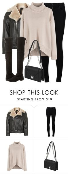 """Untitled #2995"" by elenaday ❤ liked on Polyvore featuring Topshop, Citizens of Humanity and Stuart Weitzman"