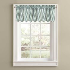 Samantha 14-Inch Window Valance in Aqua