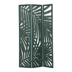 Haralson 3 Panel Room Divider (Set of Bay Isle Home Small Furniture, Solid Wood Furniture, Cut Out Design, Leaf Design, Folding Room Dividers, Panel Room Divider, Tropical Design, Green Rooms, Paper Tape