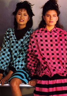 Esprit Europe, Glamour magazine, September 1983.