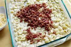Grown up mac and cheese is nothing like the stuff you make from a box! The made-from-scratch cheese sauce, bacon, and baked cheese topping make it gourmet! Smoked Gouda Cheese, Cheddar Cheese, Baked Cheese, Macaroni And Cheese, Cheese Stuffed Shells, Large Oven, Casserole Dishes, Bacon, Cooking