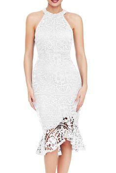 BeneGreat Womens Plus Size Floral Lace Overlay Bodycon Cocktail Party Midi Dress