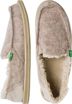 Sanuk Kimbrrr Slip-on Loafer. Vegan option to TOMS shearling lined. Just bought these off amazon they look so comfy! My favorite