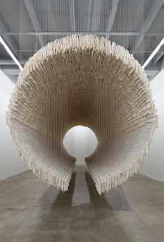 Suspended 'Boat' Installation Made of 8,000 Sheets of Rice Paper