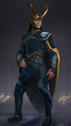When Andy Park, the Visual Development Supervisor for this show told me the news, I was excited that we were to come up with a brand new look for Loki! Loki Costume Design for Thor:Ragnarok Loki Marvel, Loki Thor, Loki Laufeyson, Marvel Heroes, Loki Costume, Loki Cosplay, Traje Loki, Bucky Barnes, Marvel Universe