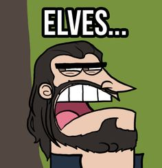Thorin blames it on the elves. ;) I just hate Elves so much! Dinkleburg!