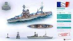Normandie - Class Battleships, France