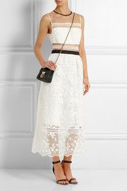Lila embroidered organza and voile dress
